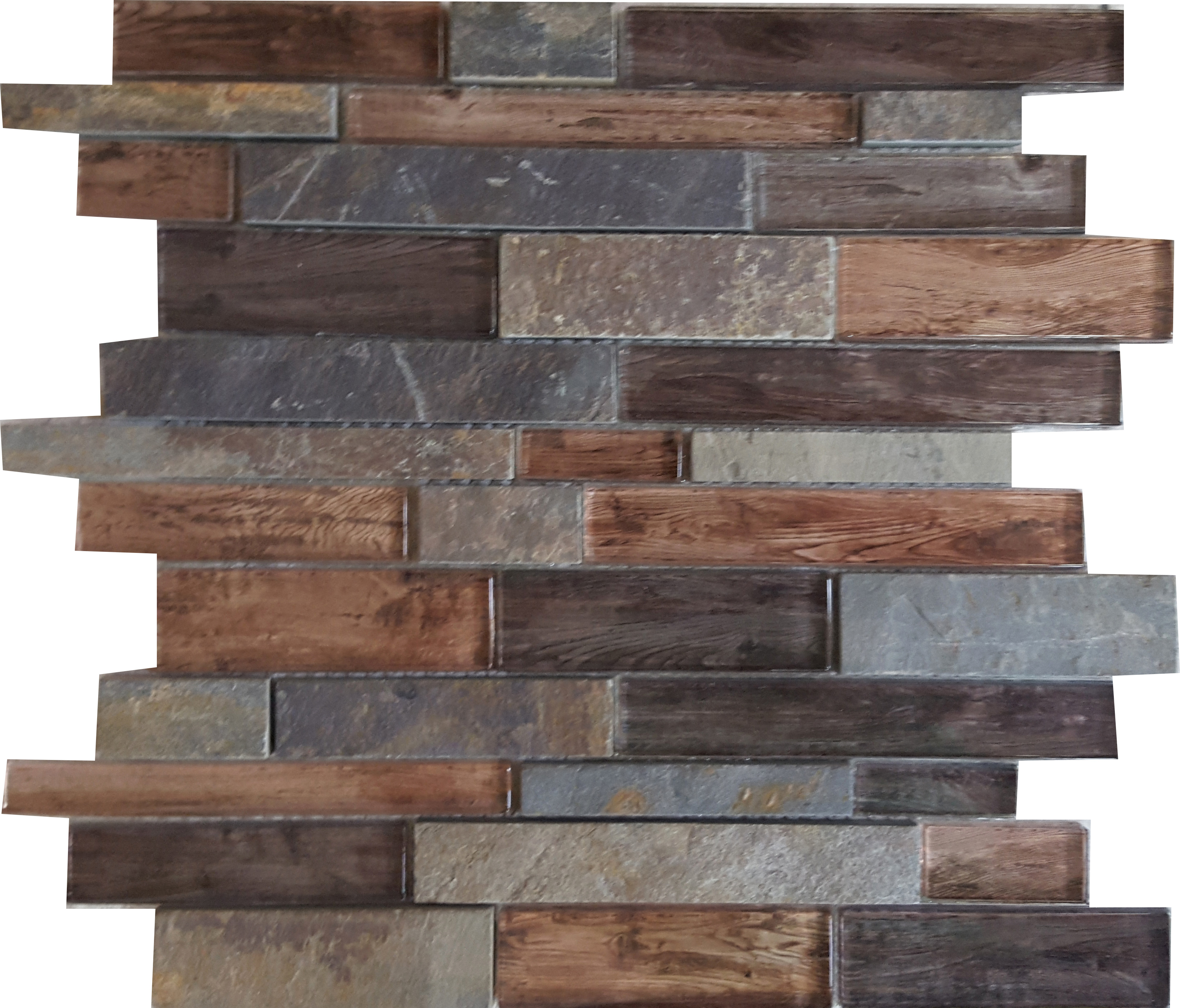 Home Mosaic Tiles Roch Multi Color Slate Gl 674